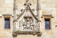 查尔斯的标志VII在Porte凯约,红葡萄酒 免版税库存图片