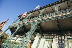 查尔斯顿街市有历史的豪宅 免版税库存照片