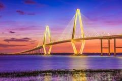 查尔斯顿,南卡罗来纳,美国桥梁 库存图片