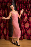查尔斯顿20世纪20年代舞蹈家 库存图片