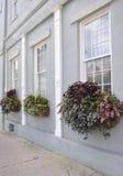 查尔斯顿SC, 8月7日:从查尔斯顿的历史的议院细节在南卡罗来纳 免版税库存照片