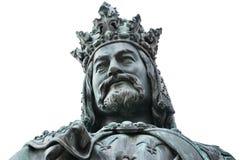 查尔斯iv国王雕象 免版税库存图片