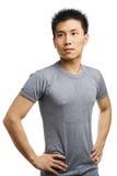 查找人年轻人的亚洲人去健身 库存图片