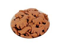 查找动物碗巧克力的曲奇饼下来 图库摄影