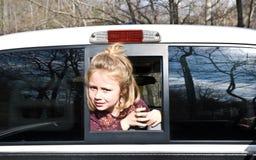 查找卡车的女孩 图库摄影