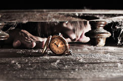 查找失去的时间手表 免版税库存图片