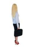 查找妇女的回到商业 免版税库存图片