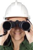 查找妇女的工程师 库存图片