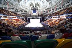 查找宫殿溜冰场显示体育比赛 免版税库存照片