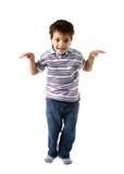 查找微笑的白种人愉快的孩子对您 图库摄影