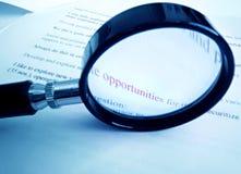 查找新的机会的商业 免版税库存照片