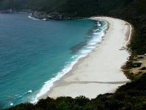 查找的海滩下来 免版税库存图片