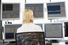 查找监控程序多个股票交易商 免版税图库摄影