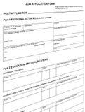 查找简历的空白格式查出的工作 免版税图库摄影