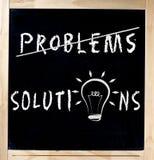 查找问题的解决方法在黑板 免版税库存图片