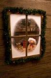 查找s圣诞老人讨论会 库存图片