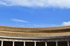 查理五世宫殿在阿尔罕布拉宫,西班牙 免版税库存图片