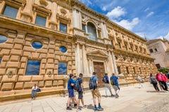 查理五世宫殿格拉纳达 库存图片