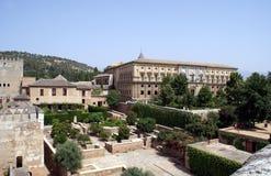 查理五世宫殿,阿尔罕布拉宫,格拉纳达,西班牙宫殿  库存照片