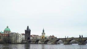 查理大桥在布拉格市 股票视频