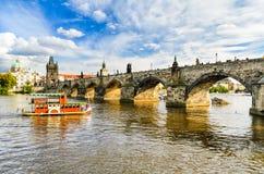 查理大桥在布拉格,捷克 库存图片