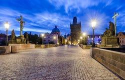 查理大桥在布拉格,捷克 库存照片