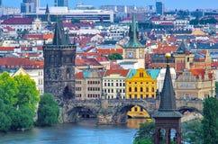查理大桥在布拉格 库存图片