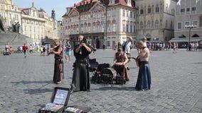 查理大桥的卖艺人布拉格-捷克的 影视素材