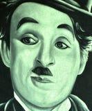 查理・卓别林壁画 免版税图库摄影
