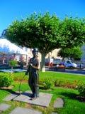 查理・卓别林的纪念碑 库存图片