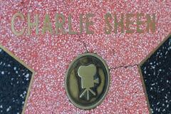 查理・辛的好莱坞明星 免版税库存图片