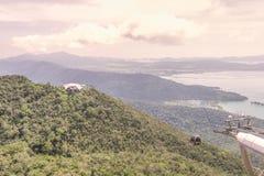 查看平台, Gunung Machinchang, Langkawi 免版税图库摄影