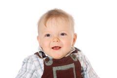 查看照相机的逗人喜爱的婴孩 库存照片