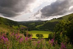 查看远景威尔士 免版税库存图片