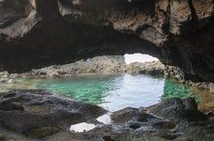查科Azul,蓝色水池,耶罗岛 免版税图库摄影