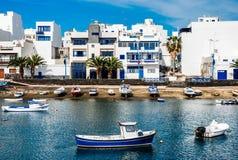 查科de圣希内斯,阿雷西费,兰萨罗特岛,加那利群岛 免版税库存照片