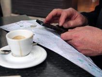 查寻一个目的地在巴塞罗那 免版税库存图片