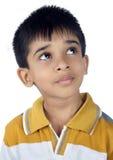 查寻印地安的小男孩 免版税库存图片