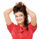 查寻美丽的体贴的妇女 免版税库存图片