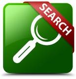 查寻绿色方形的按钮 图库摄影