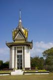 柬埔寨中心choeung ek种族灭绝的stupa 免版税库存图片