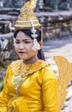 柬埔寨人Apsara舞蹈家 库存图片