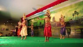 柬埔寨人Apsara舞蹈,暹粒 股票录像