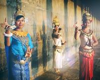 柬埔寨传统文化Apsara女性Tanquil概念 免版税图库摄影