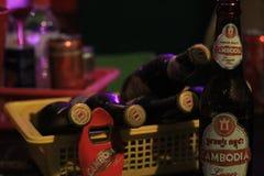 柬埔寨啤酒 库存图片