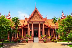 柬埔寨国家博物馆,金边 图库摄影