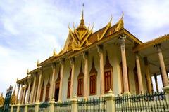 柬埔寨塔penh phnom银 免版税库存照片