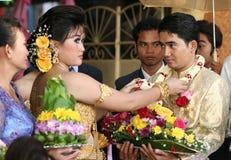 柬埔寨婚姻 免版税库存照片