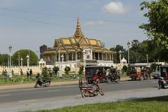 柬埔寨宫殿皇家penh的phnom 库存照片