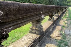 柬埔寨寺庙复合体吴哥窟操刀 免版税库存图片